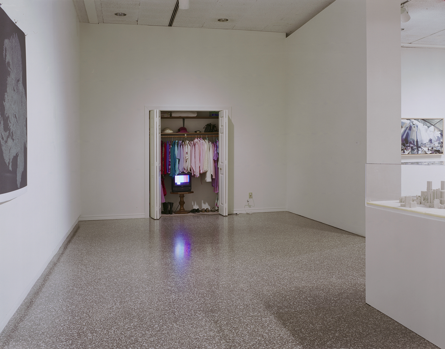 Grandmother's Closet Installation (with sound and scent), McKnight Exhibition, Minneapolis College of Art & Design, 2006
