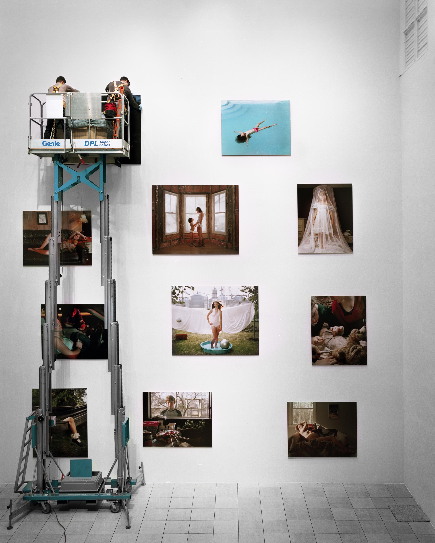 Moca Jacksonville Project Atrium Exhibition, Installation in progress, 2014