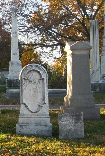 cemetery grave stones