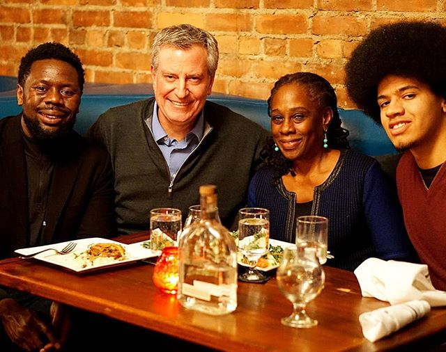 """Truly honored to host Mayor De Blasio and his beautiful family in our intimate lounge. Repost @bootleggregcocktails:  Always grateful to be around great leaders and role models. Thank you Mayor De Blasio for the kind words and converstaion. #honored #blessed"""" http://bit.ly/2ENVPUp #anchorspa #theanchorspa #newhaven #nhv #vip #family #craft cocktails #savorybites #servicewithasmile #leaders #nyc #nycmayor"""