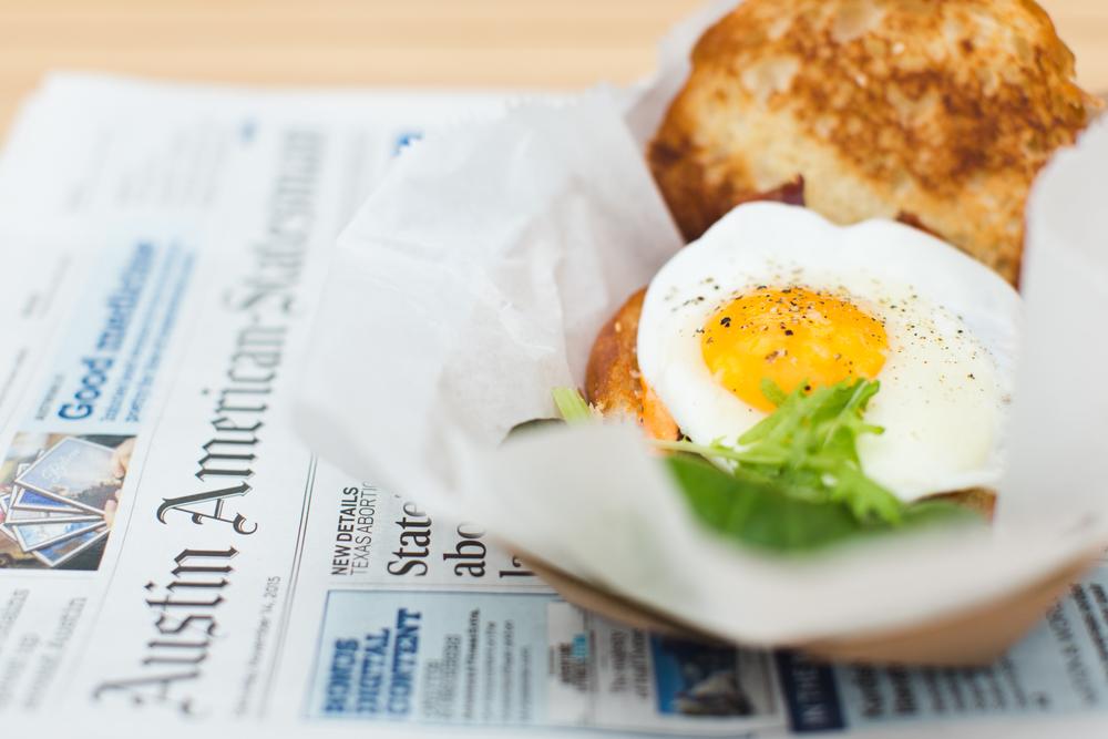 Paperboy's sausage & egg sandwich