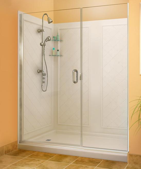 Semi Frameless Configurations Dt, Fiberglass Shower Stall With Glass Door