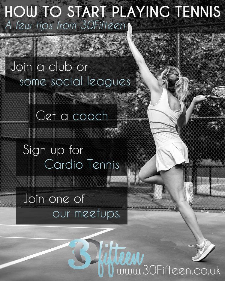 HOW TO START PLAYING TENNIS 30FIFTEEN