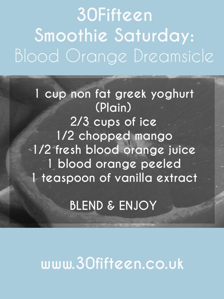 BLOOD ORANGE DREAMISCLE SMOOTHIE RECIPE