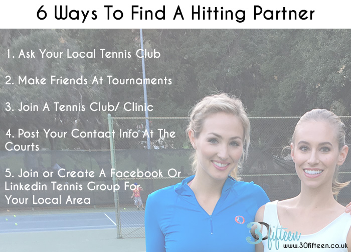 6 Ways To Finding a Hitting Partner