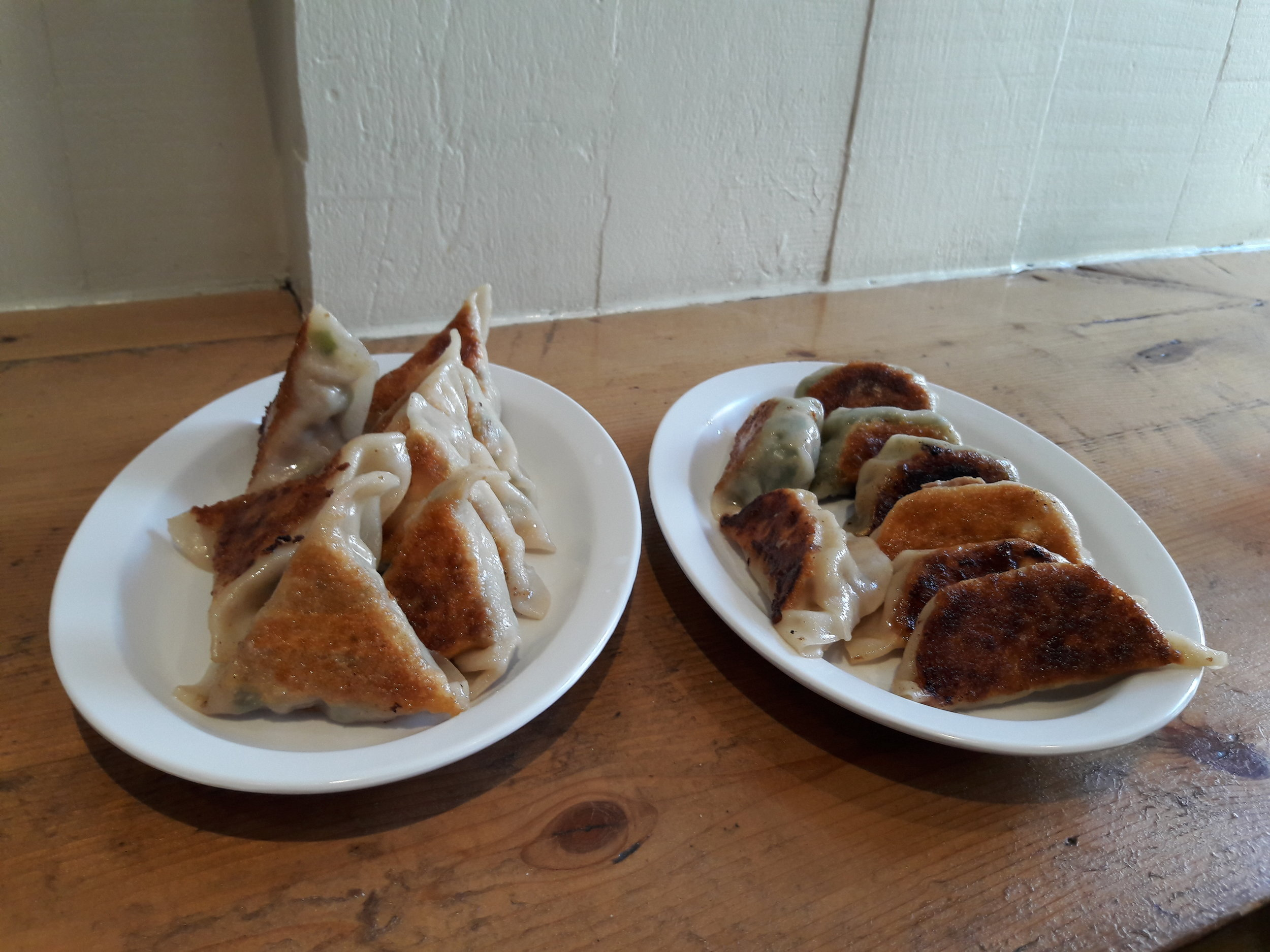 Overly healthy and organic dumplings at Mimi Cheng's.