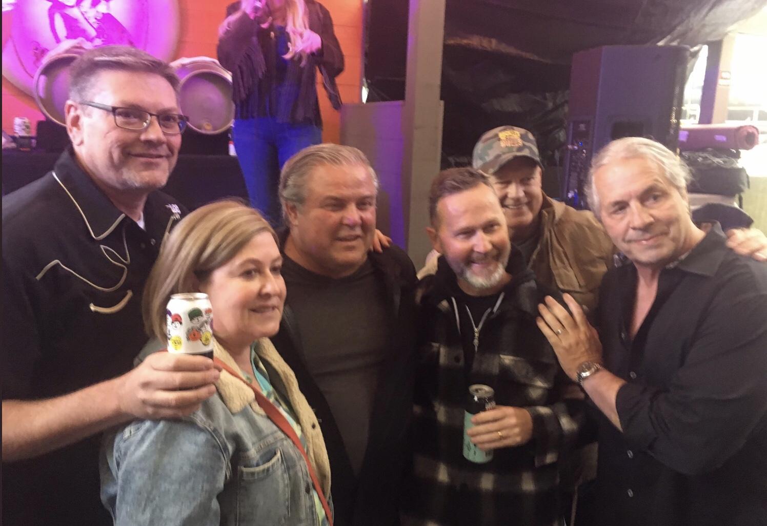 Left to Right: Tom Stuart , Pamela Heard, Tony Spoletini, Jim Button,Gerry Forbes Bret Hart.