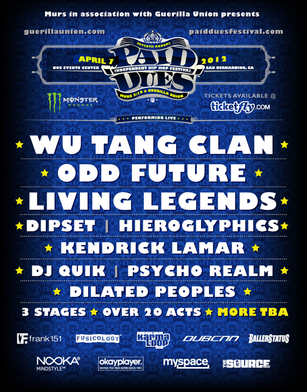 Paid Dues 2012
