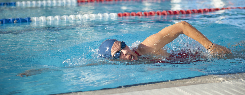 80 year old woman swimming