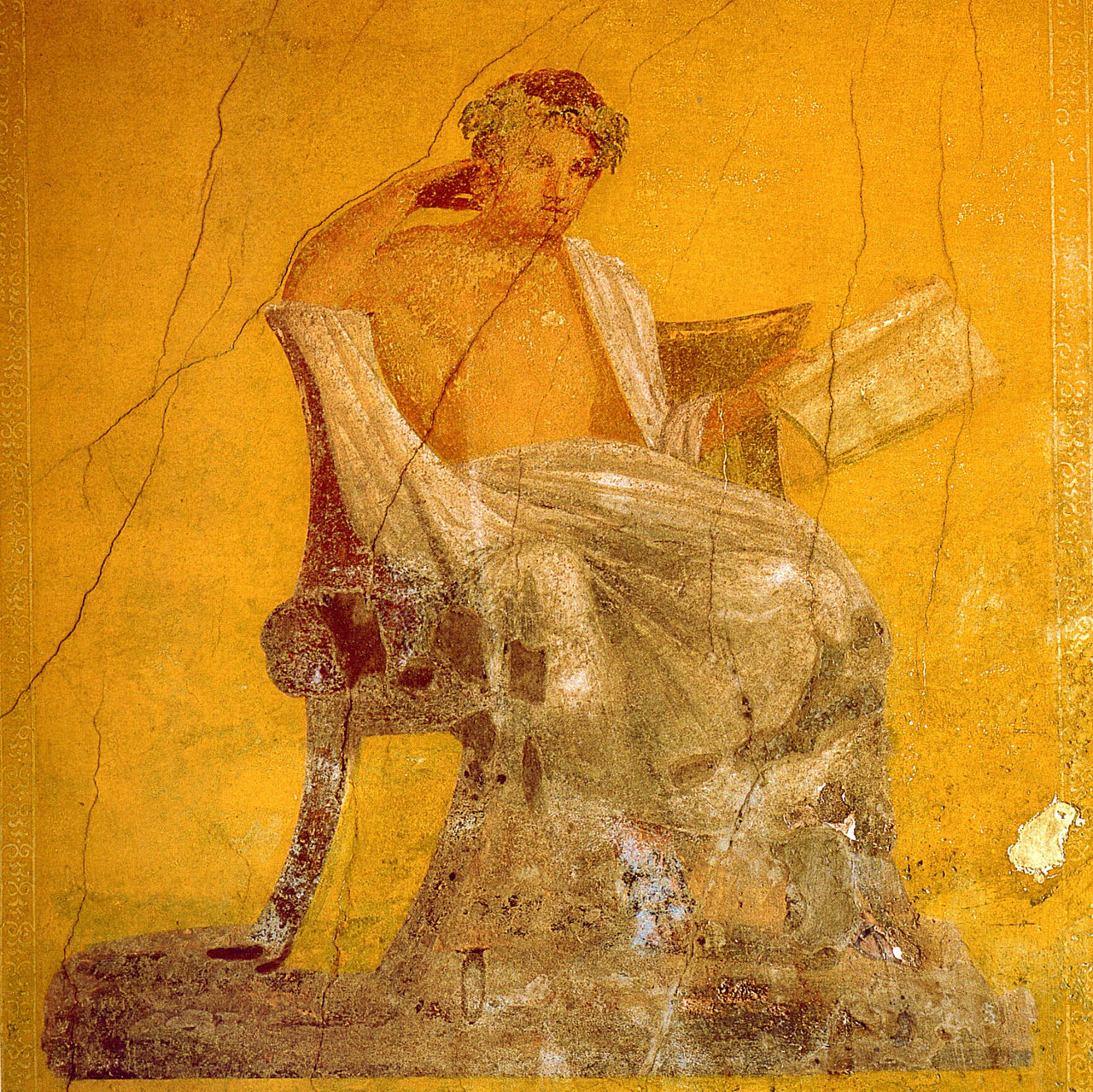 "Fresco from the ""House of Menander"" in Pompeii"