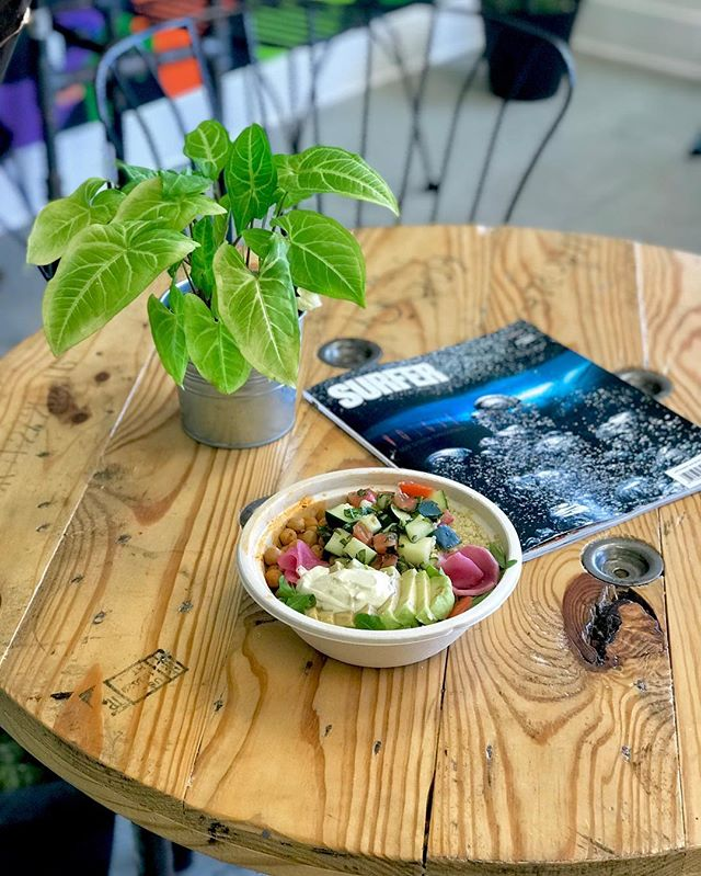 We are now serving our Mediterranean Bowl & MexiCali Bowl made to order! Come in and try these bowls warm 🤤