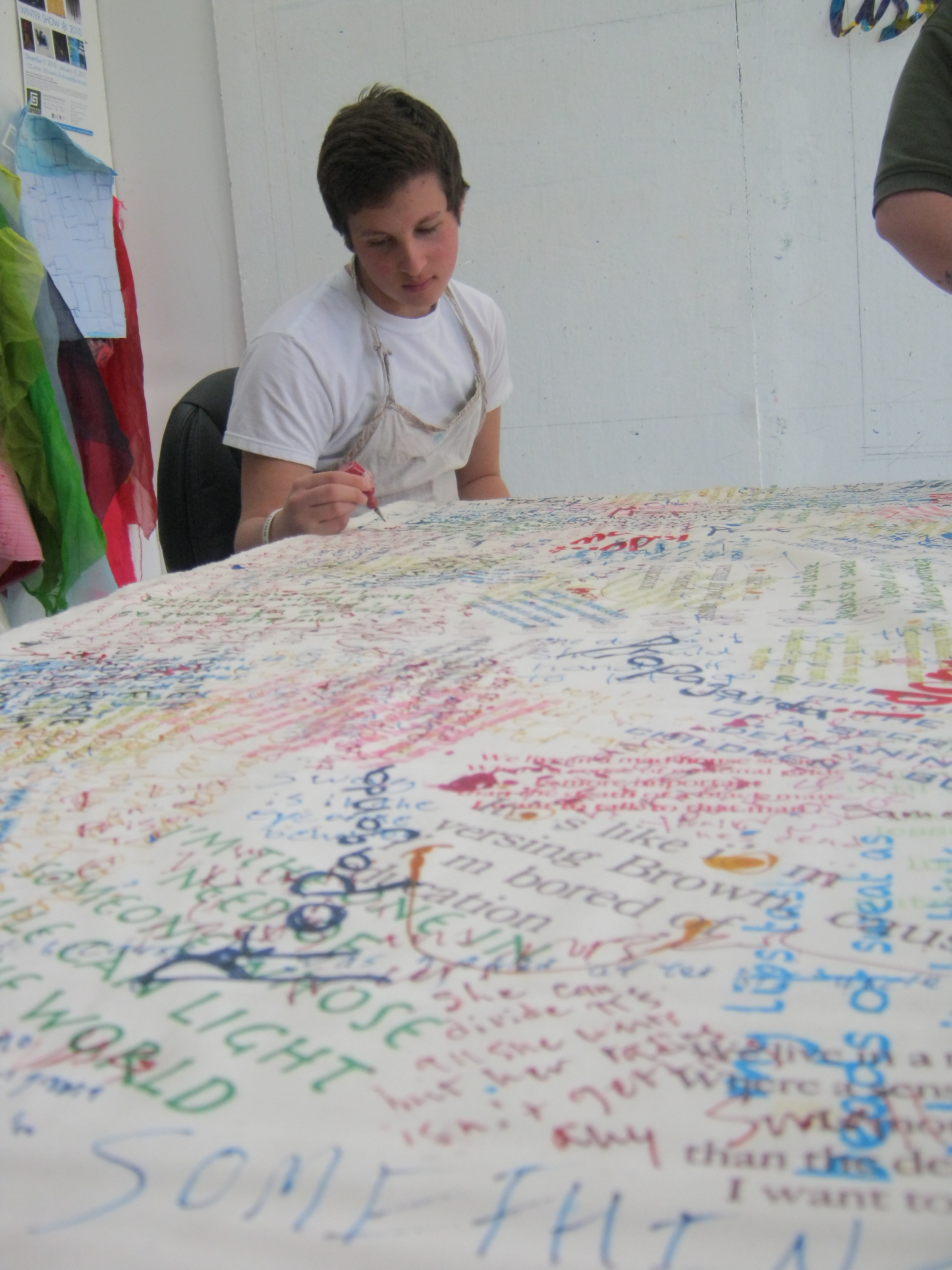 Daniel writing on cloth-day one.jpg
