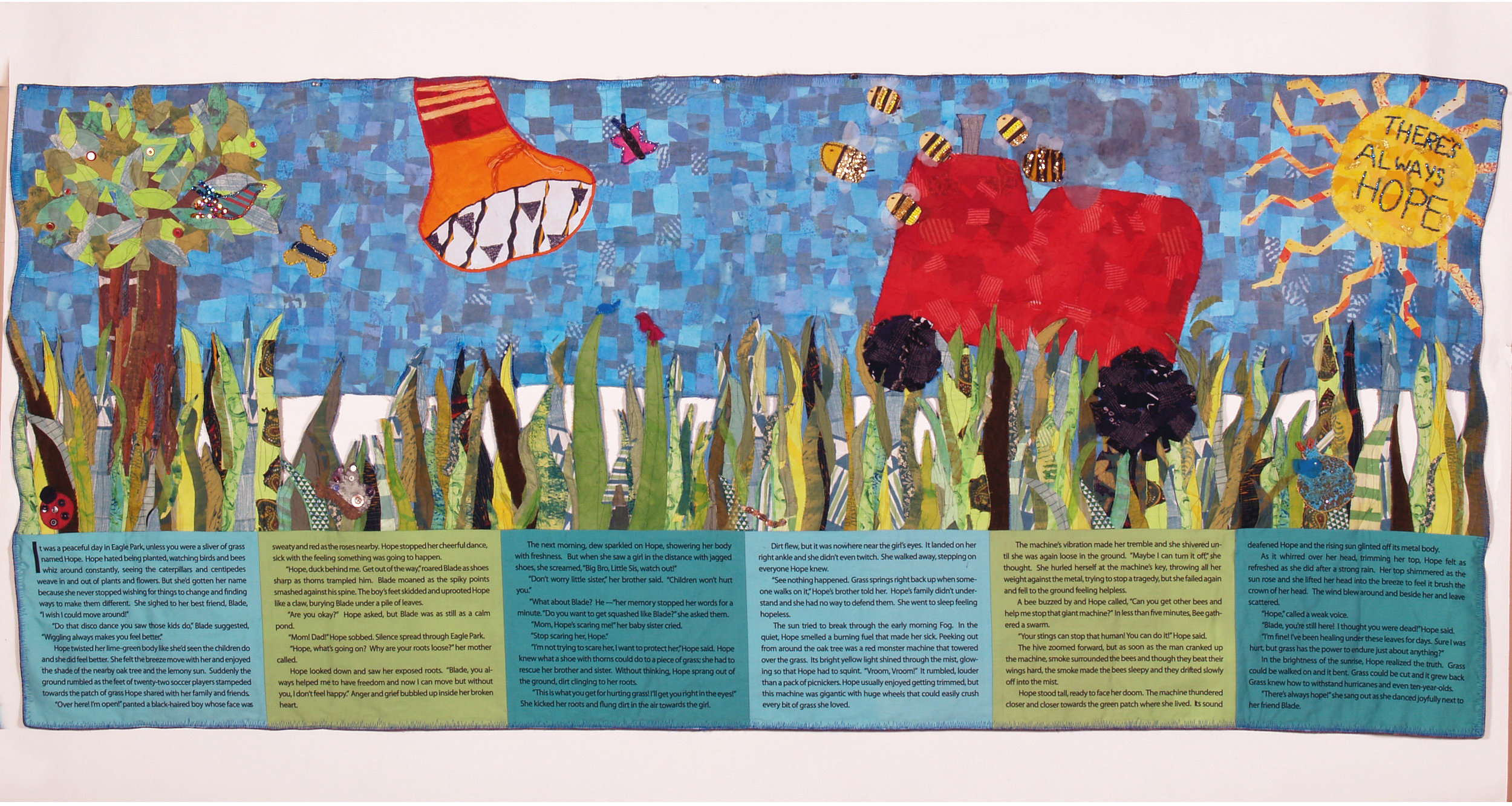 There is Always Hope , created with Elon University art students, for Estes Hills E., Chapel Hill, NC,2008.