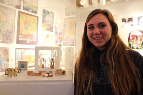 Analiese has been taking metal arts since freshman year. She thinks it is really cool how anything can be created into jewelry.