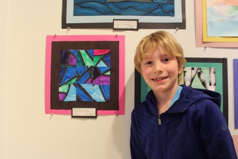 Talan likes making abstract art and taking the time to have fun! Art is a fun break from other core classes.
