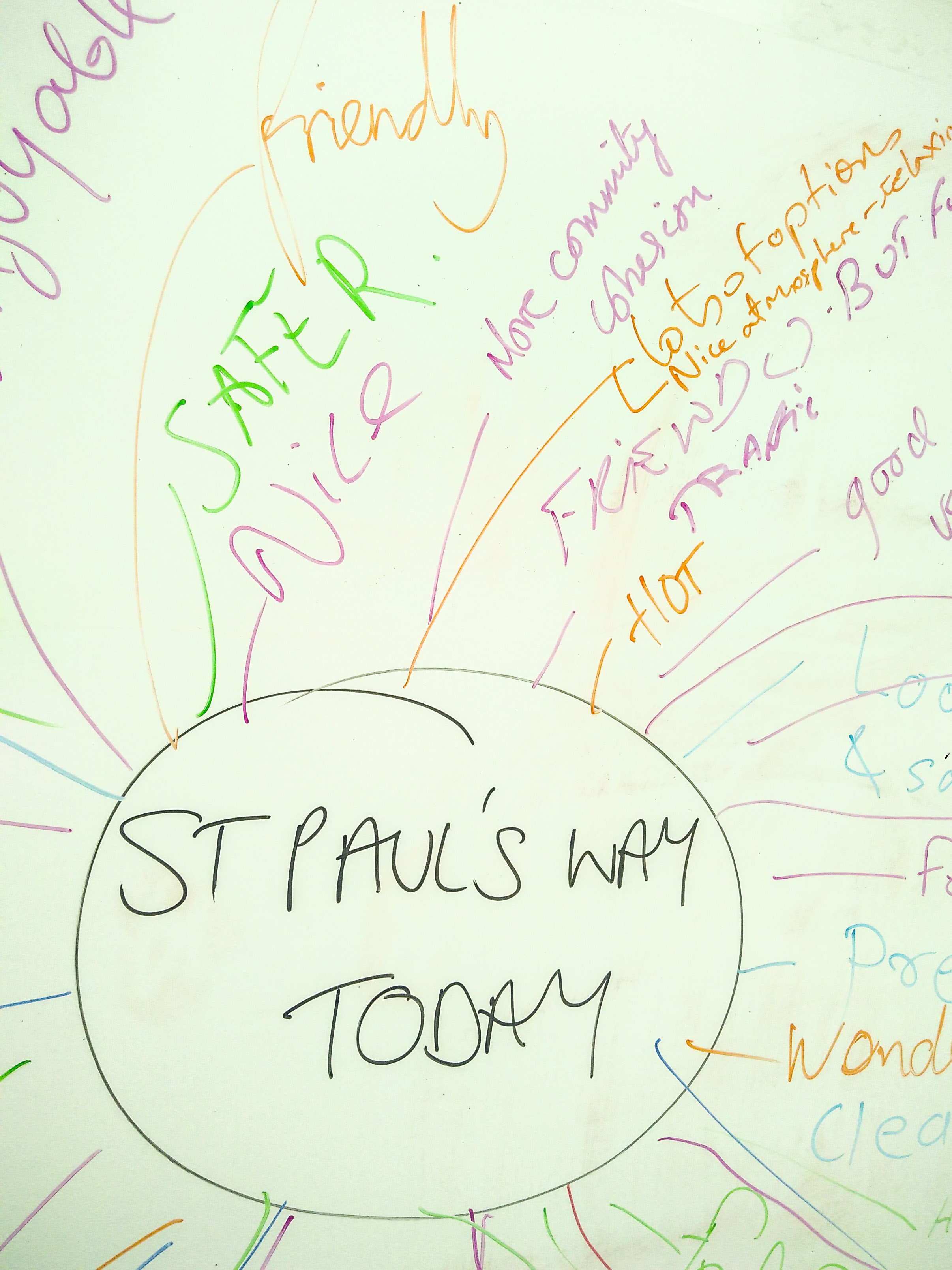 JOIN US AT THE ST PAUL'S WAY FESTIVAL ON SUNDAY 23 JUNE! - DATE: Sunday 23 JuneTIME: 12pm - 4pmLOCATION: St Paul's Way, PoplarOur Reclaiming Streets stall will be hosting conversations with local residents about air quality locally, what the problem is and how we can work together to improve it - come and say hello!There will also be lots of other activities, stalls, food and drink and a stage with live music - lots of enjoy.This image is a brainstorm of people's reactions to the festival in 2018, where for the first time we closed the street to traffic completely.