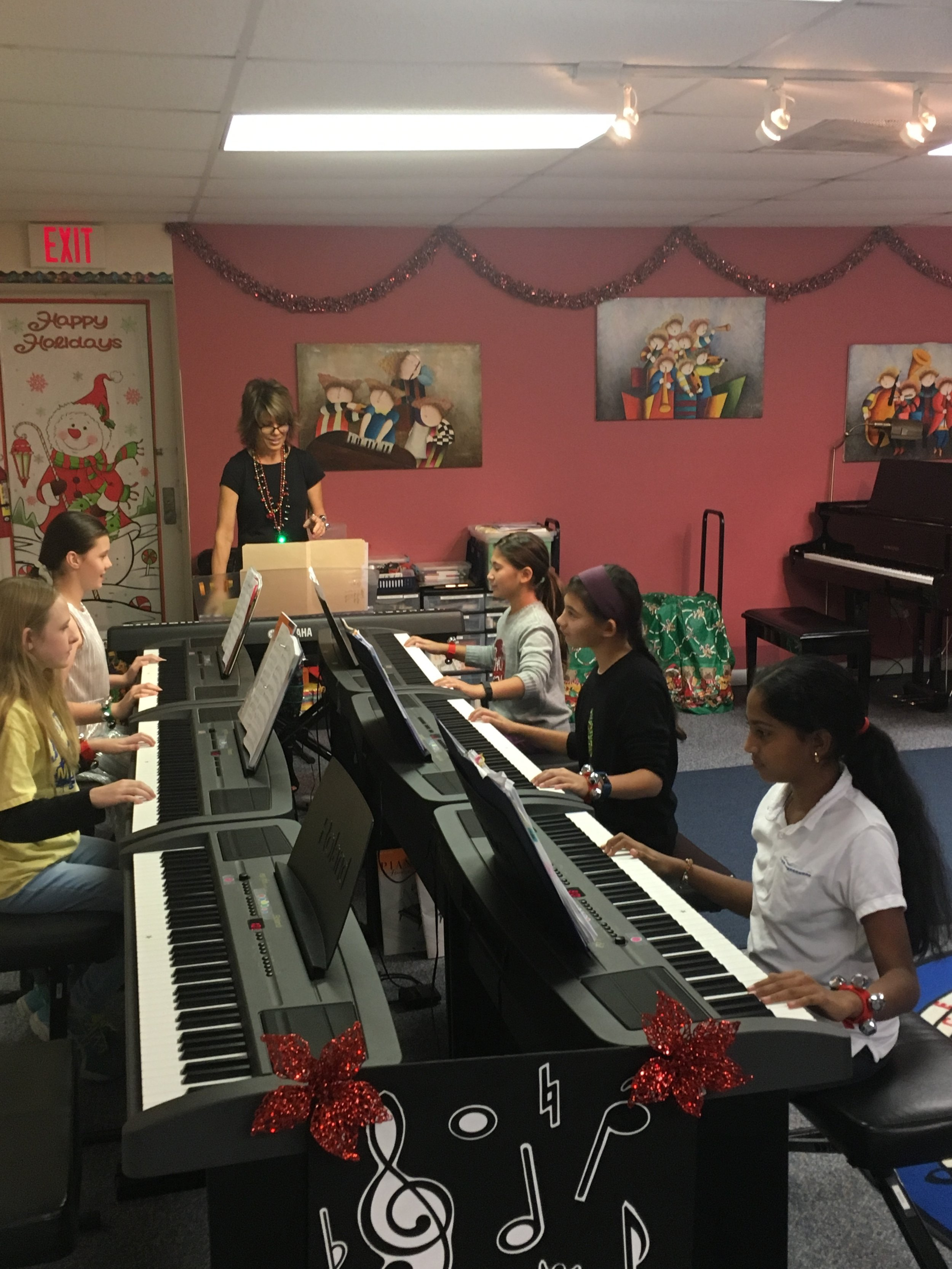 One of Ms JoAnn's group piano Holiday recitals.