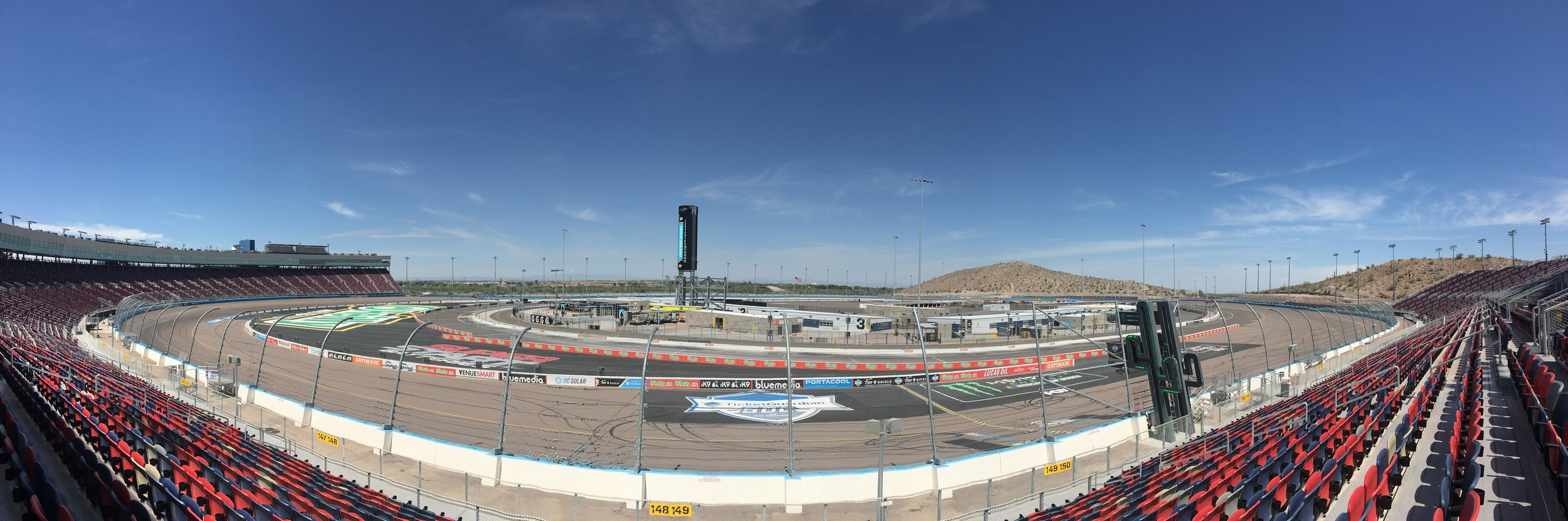 ISM speedway in Tolleson, AZ at the far southwest side of Phoenix.