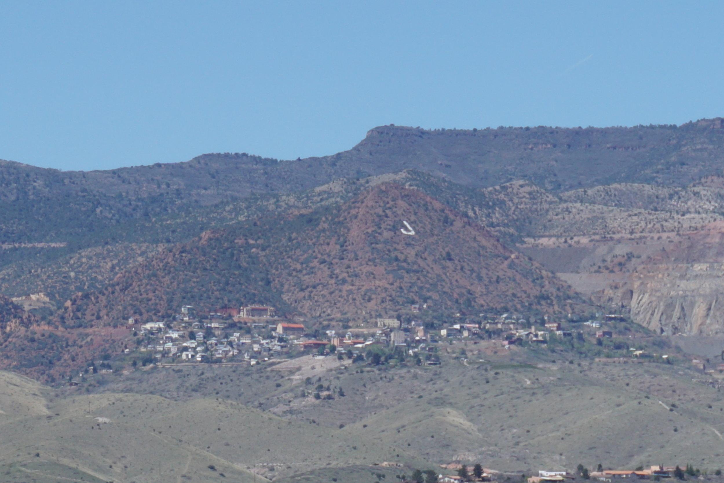 Jerome, AZ as seen from Tuzigoot National Monument outside of Cottonwood, AZ