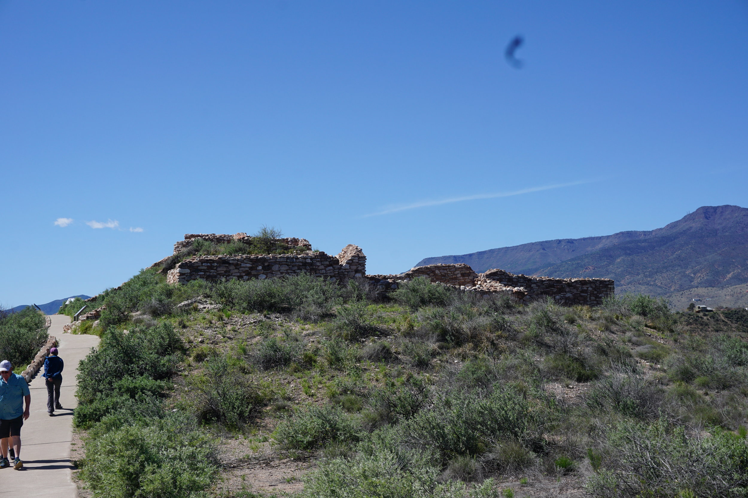 Ruins from the visitor center
