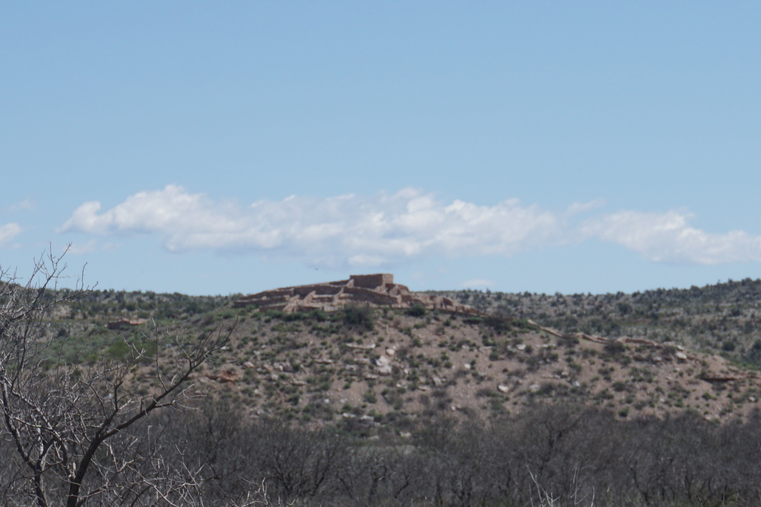 Tuzigoot from the banks of the Verde.
