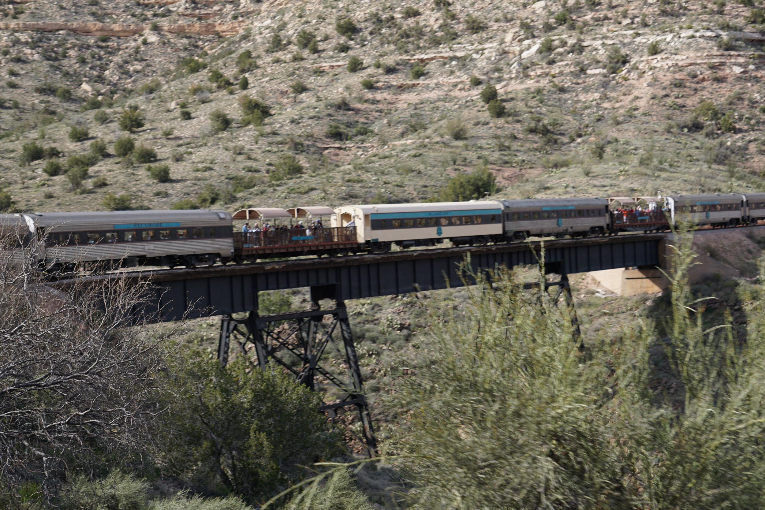 Train going over the SOB Canyon.  It stands for Superintendent of Bridges, sorry….