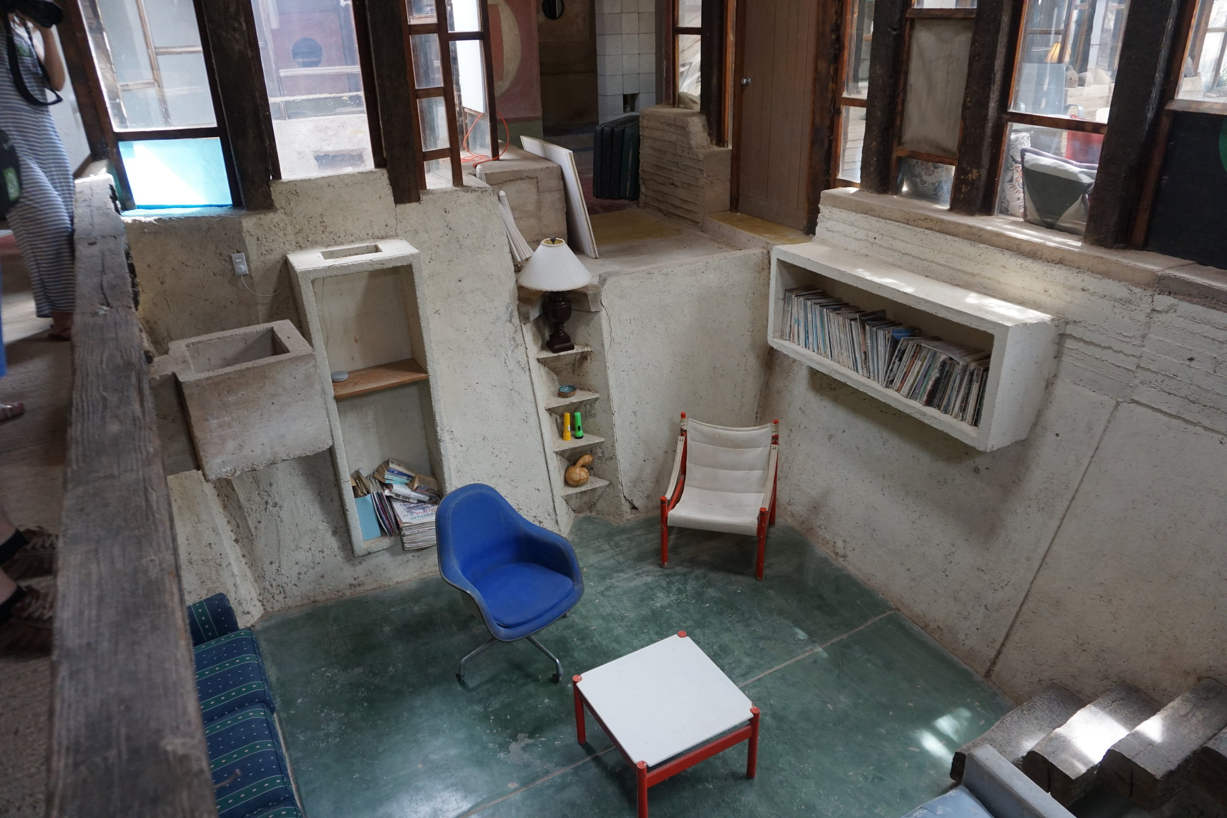 The residence spaces for workers and artists.