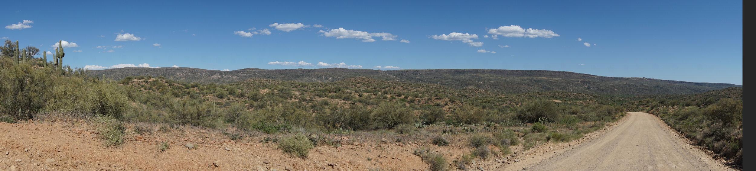 Mogollon Ridge from the Alki Canyon outside of Bumble Bee AZ