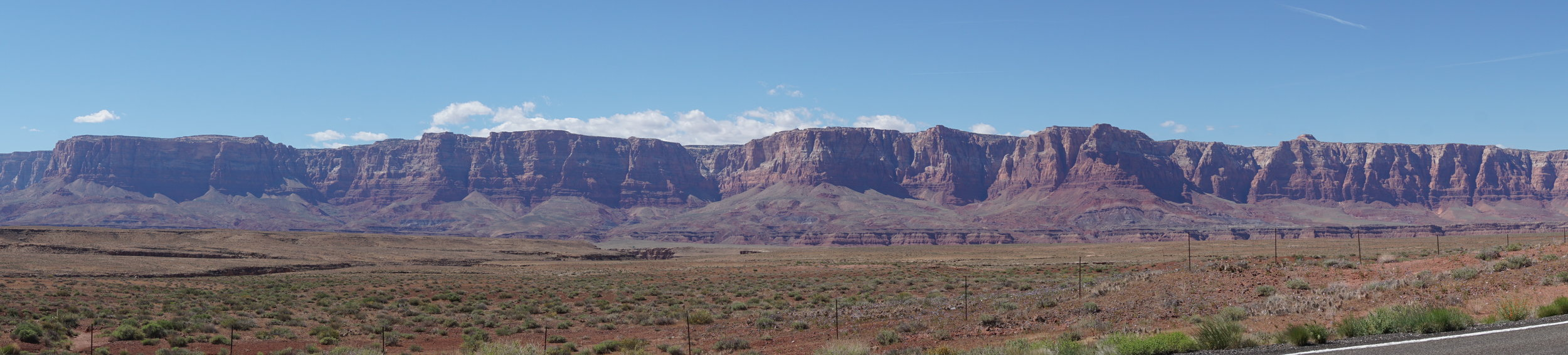 The Kaibab Plateau as you travel north along the Vermillion Cliffs