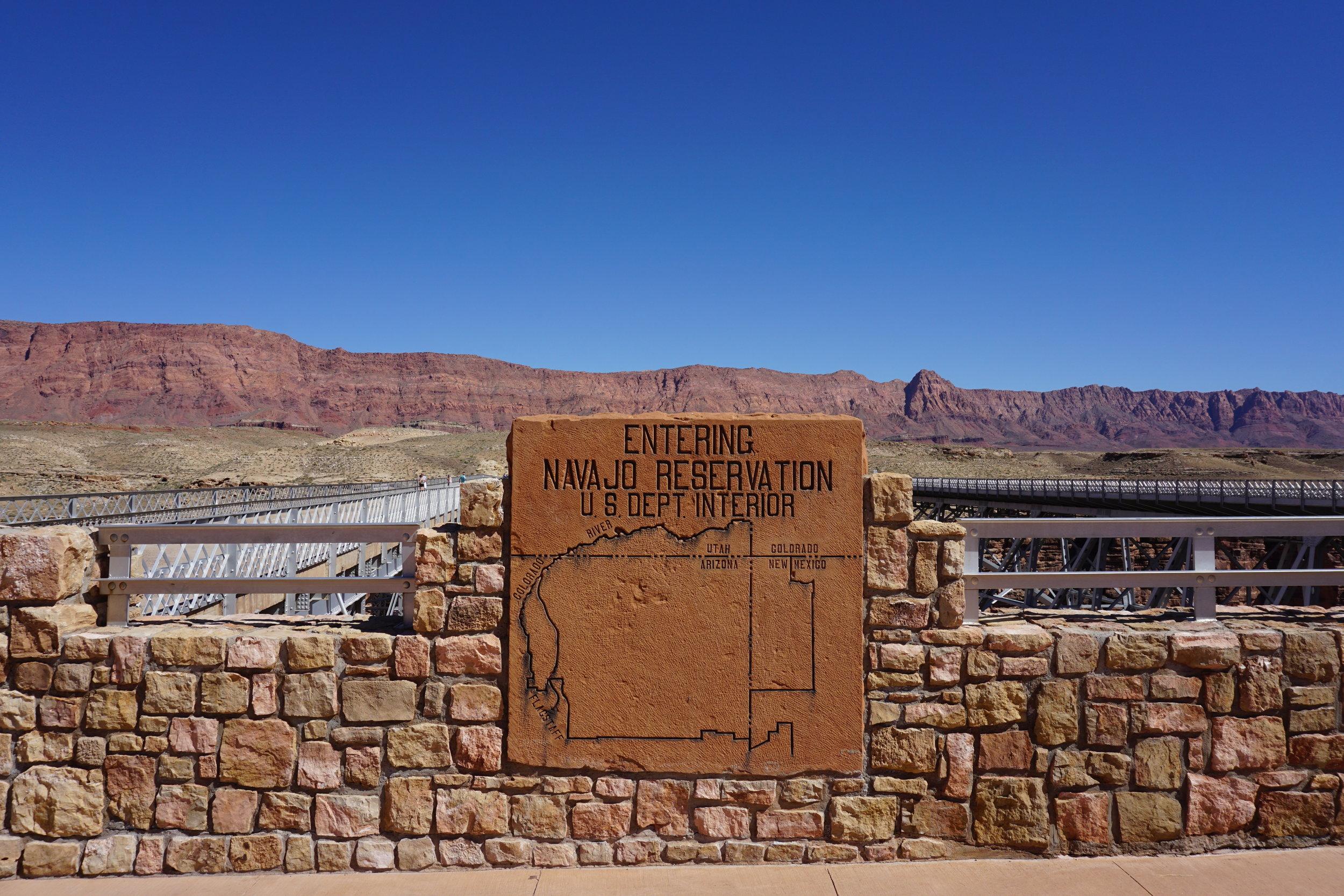 Colorado River boundary of Navajo Reservation