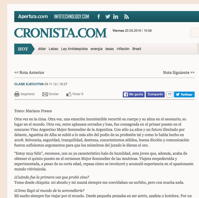CRONISTA
