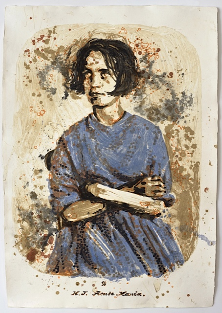 """Harriet"" Gesso and Carborundum print on handmade Indian paper 54 x 38 in. / 137 x 97 cm. Edition of 25"