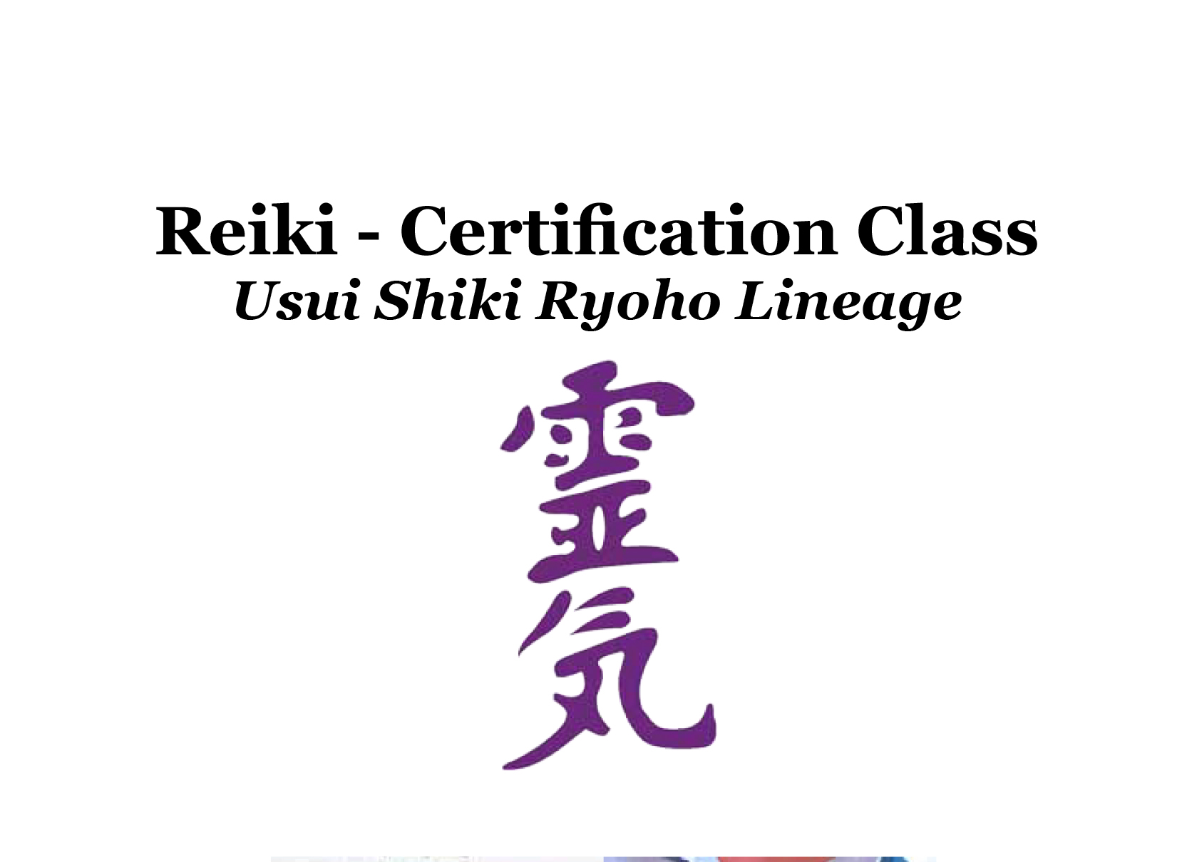 Reiki Certification Classes