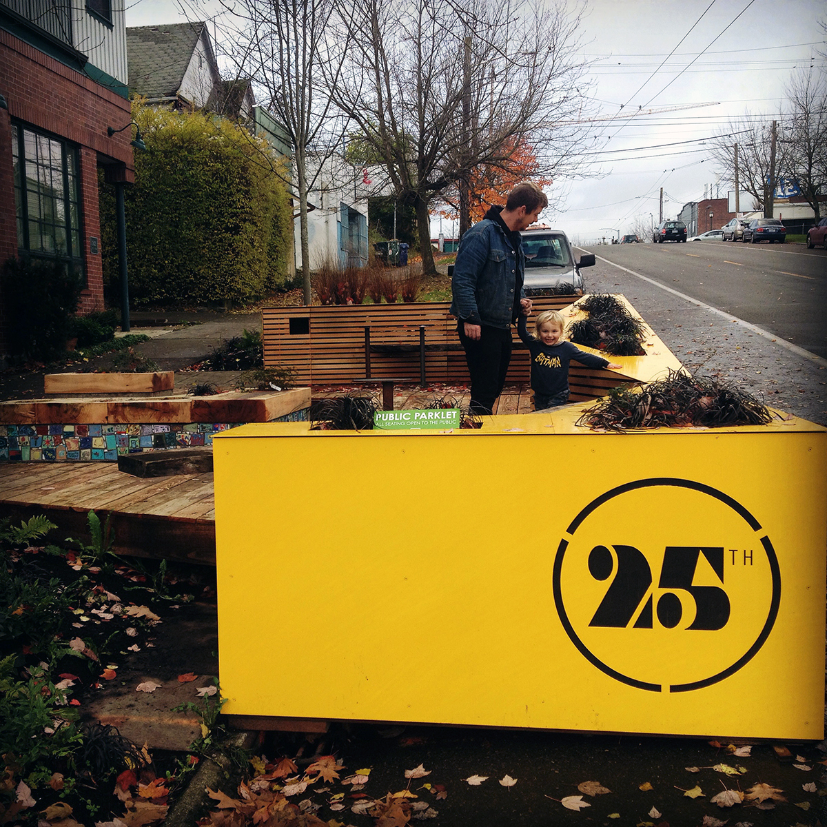 A view from the west side of the parklet.
