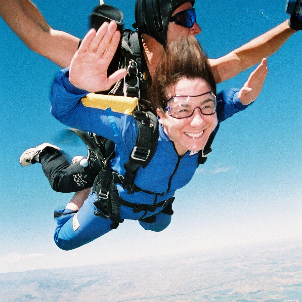Jen Coken Author and Coach Skydiving, enjoying life.