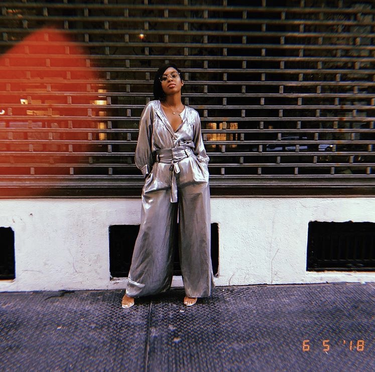 I felt like a futuristic fashion bomb in this light-weight look!  This metallic blouse and bottom combo are from Zara!  This look was light-weight, airy,caught eyes and EVEN made a few people catch feelings *sips tea*...  ANYWAYS,let's shop this look!  This  metallic shirt    from Zara is on sale!  The matching  palazzo pants  are ALSO on sale!  Add these  clear heels  from  AKIRA  to your look!  And finish the entire look off with these Cat Eye  sunglasses  from  ASOS .  Happy Weekend Finds ladies!