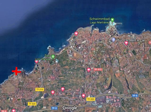 Einen Steinwurf vom Strand - …und Loro Park entfernt liegt die Atlantikgalerie, gut gelegen als Basisstation für tolle Erkundungstouren auf der Insel oder für einen erholsamen Strandurlaub.