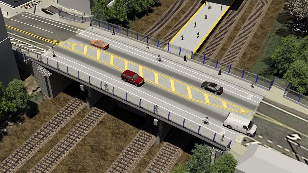 New Three-Span Monroe Street Bridge