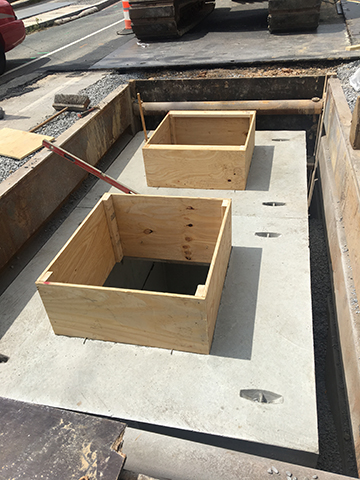 Copy of Vault Manhole (Formwork for Risers - 1593) and Connection to Pepco Vault manhole on 9th Street NE (1597)