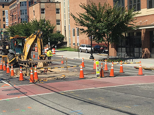 Copy of Trenching work at the intersection of 8th ST and Monroe ST