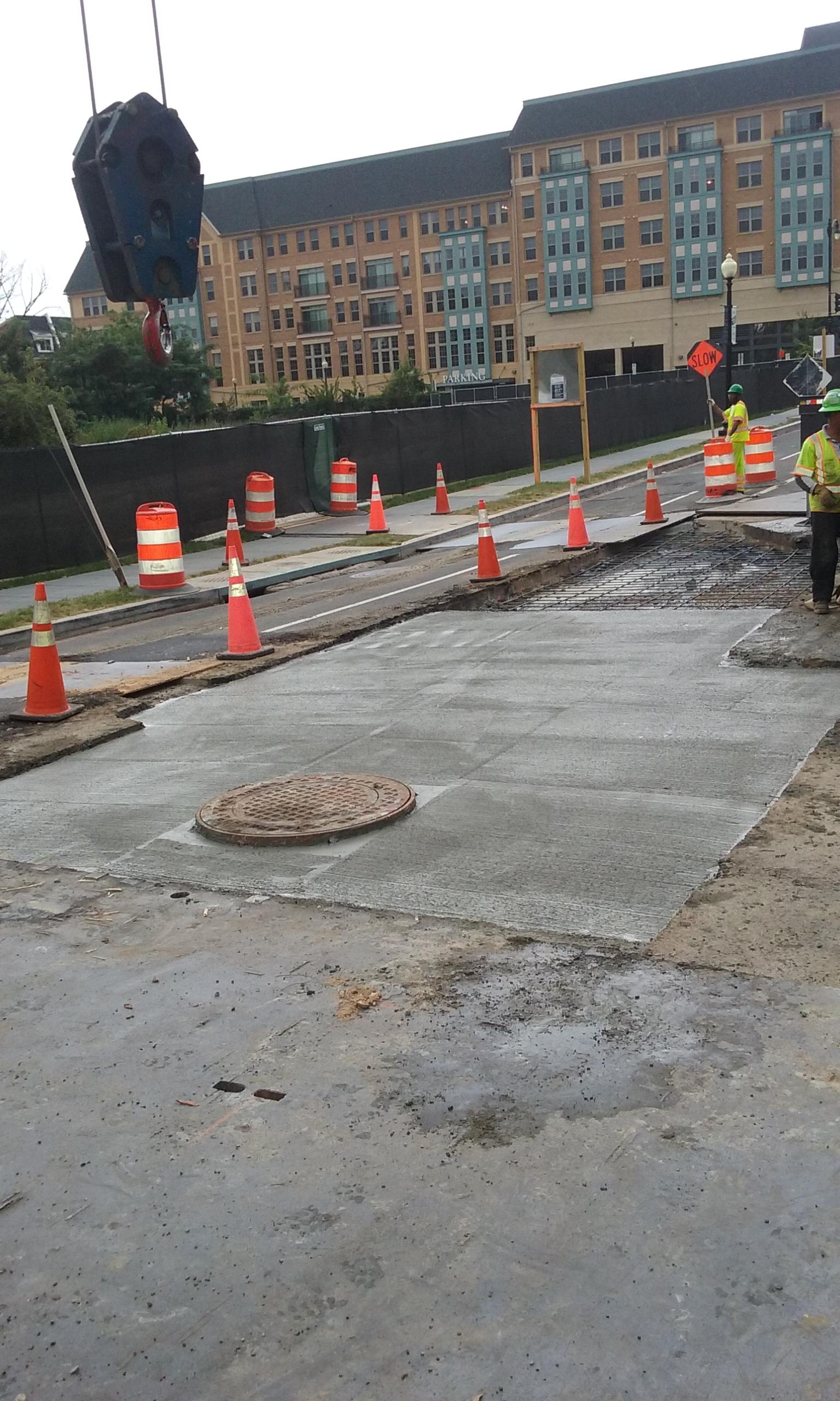 PCC base for roadway restoration – 8th & Monroe