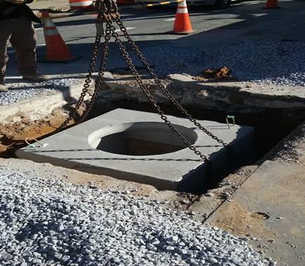 Manhole #25 installation at 9th &Monroe