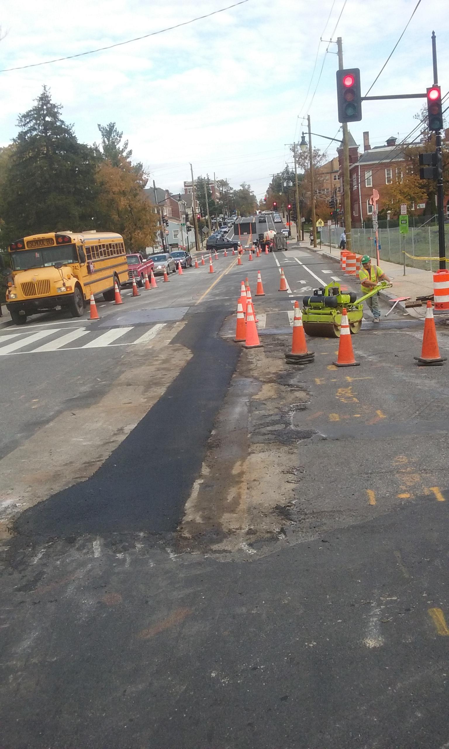 Asphalt pavement for roaway restoration at 9th & Monroe
