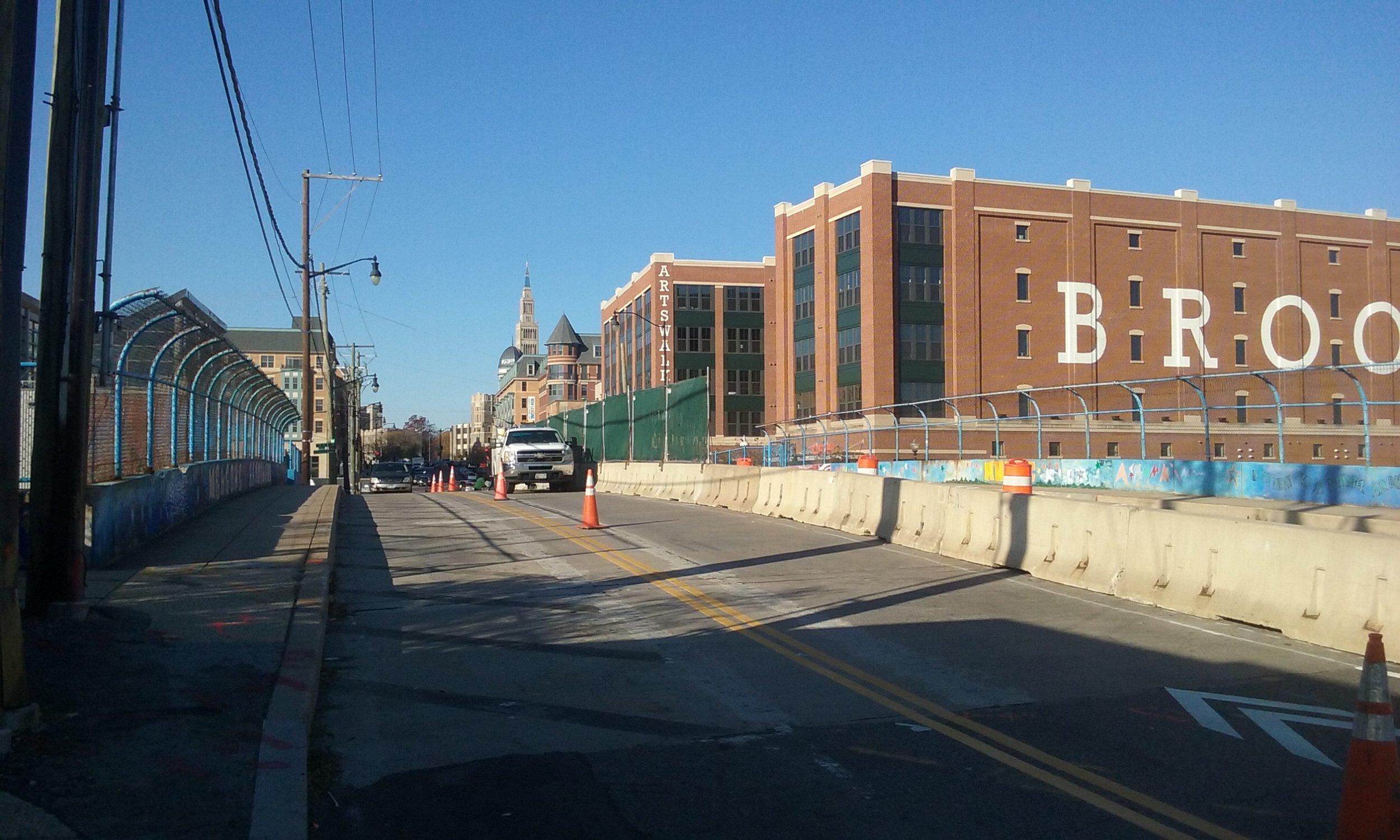 Barriers fence on Monroe Street NE BridgeBarriers fence on Monroe Street NE Bridge