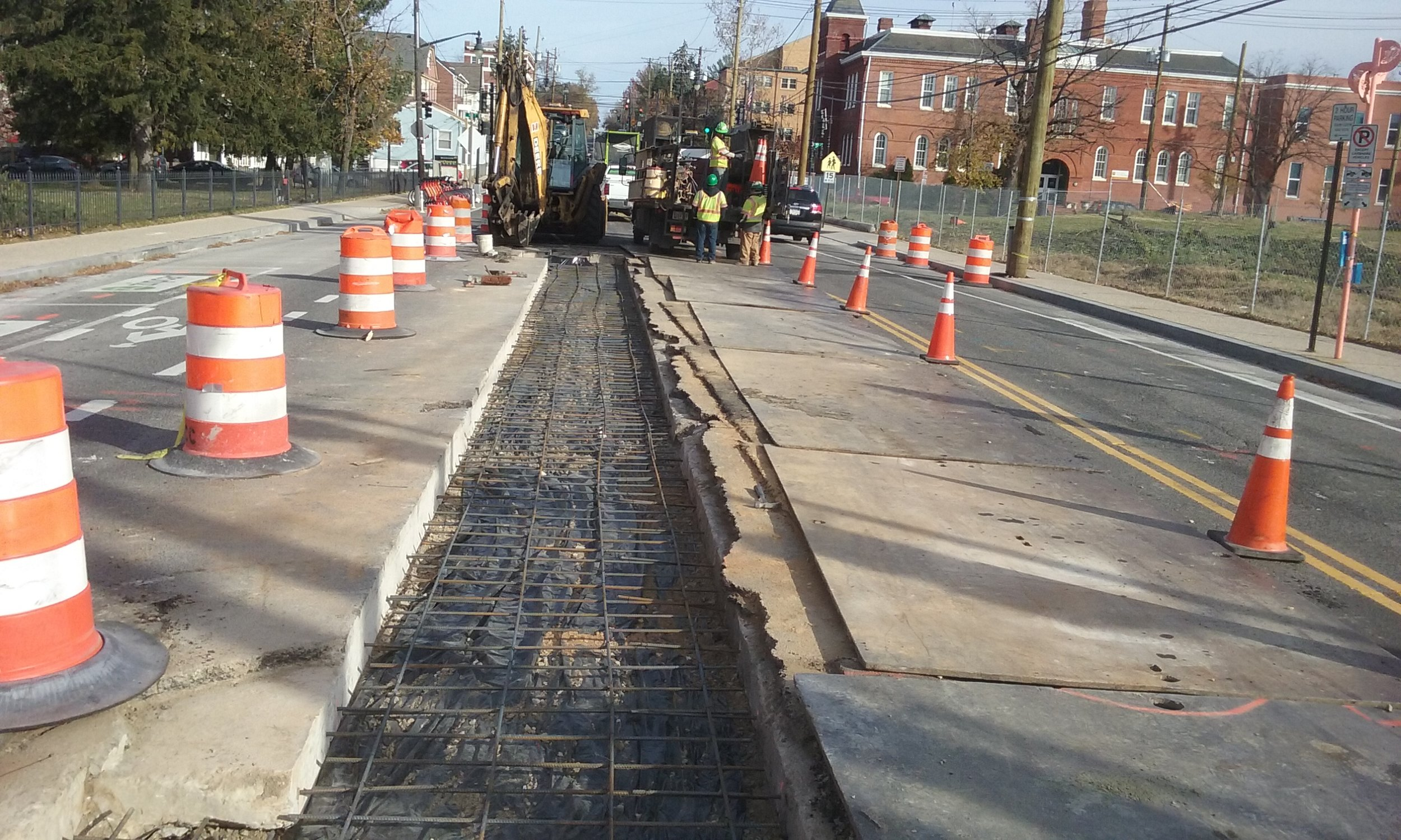 Reinforcement for utility cut repair-east of 9th & Monroe