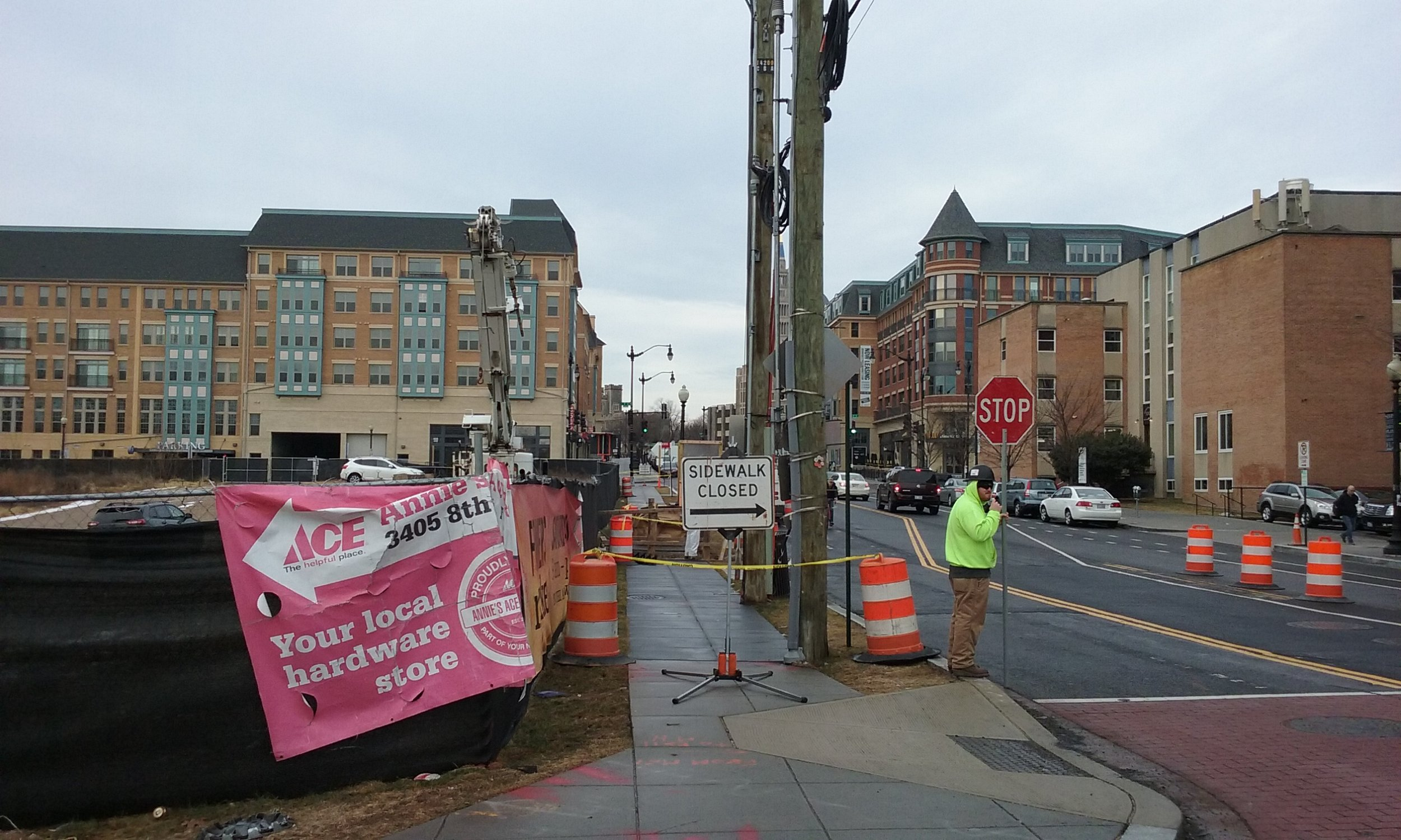 Maintenance of Traffic at 8th & Monroe