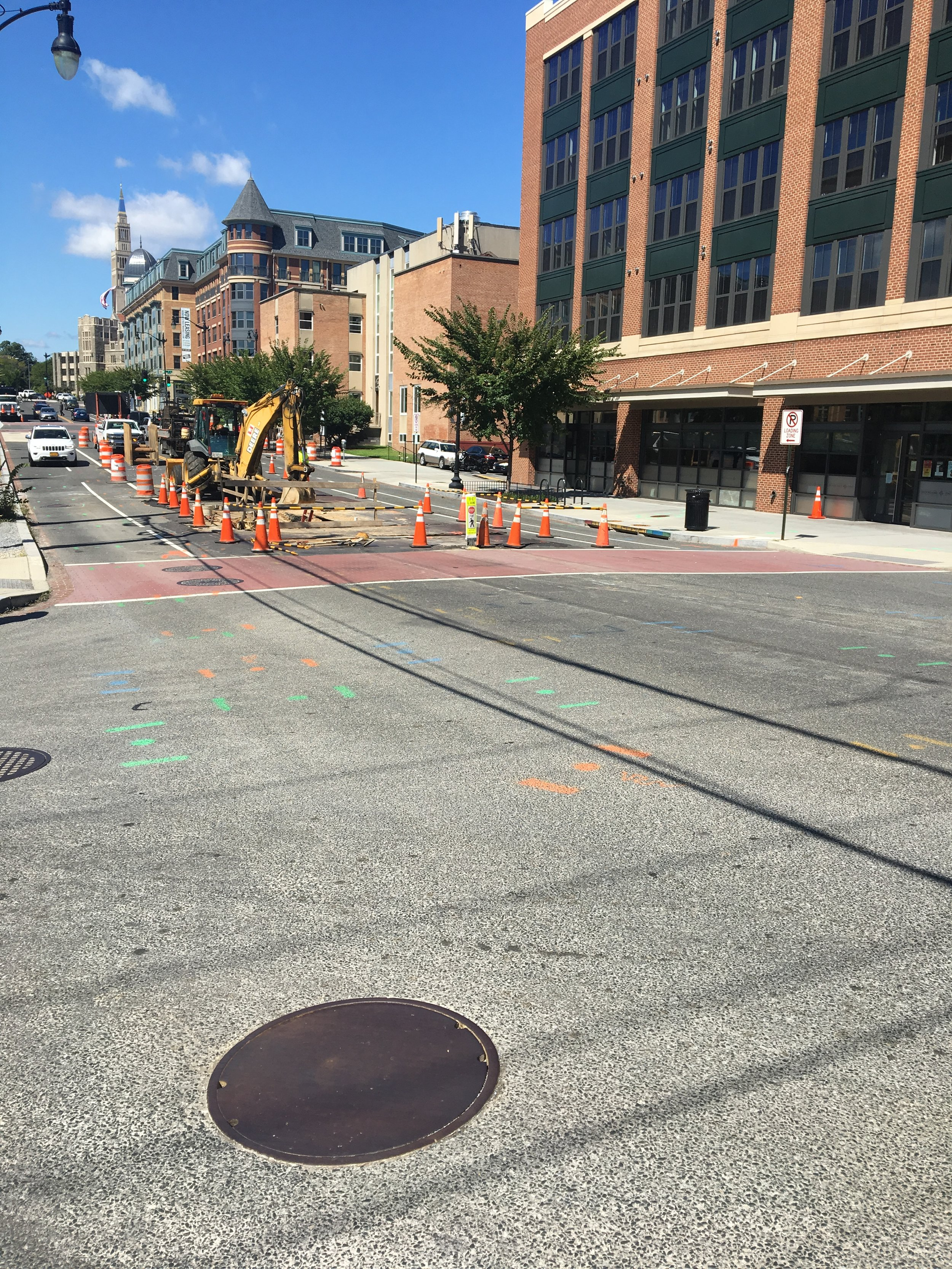 Maintenance of Traffic setting for work west of 8th Street intersection