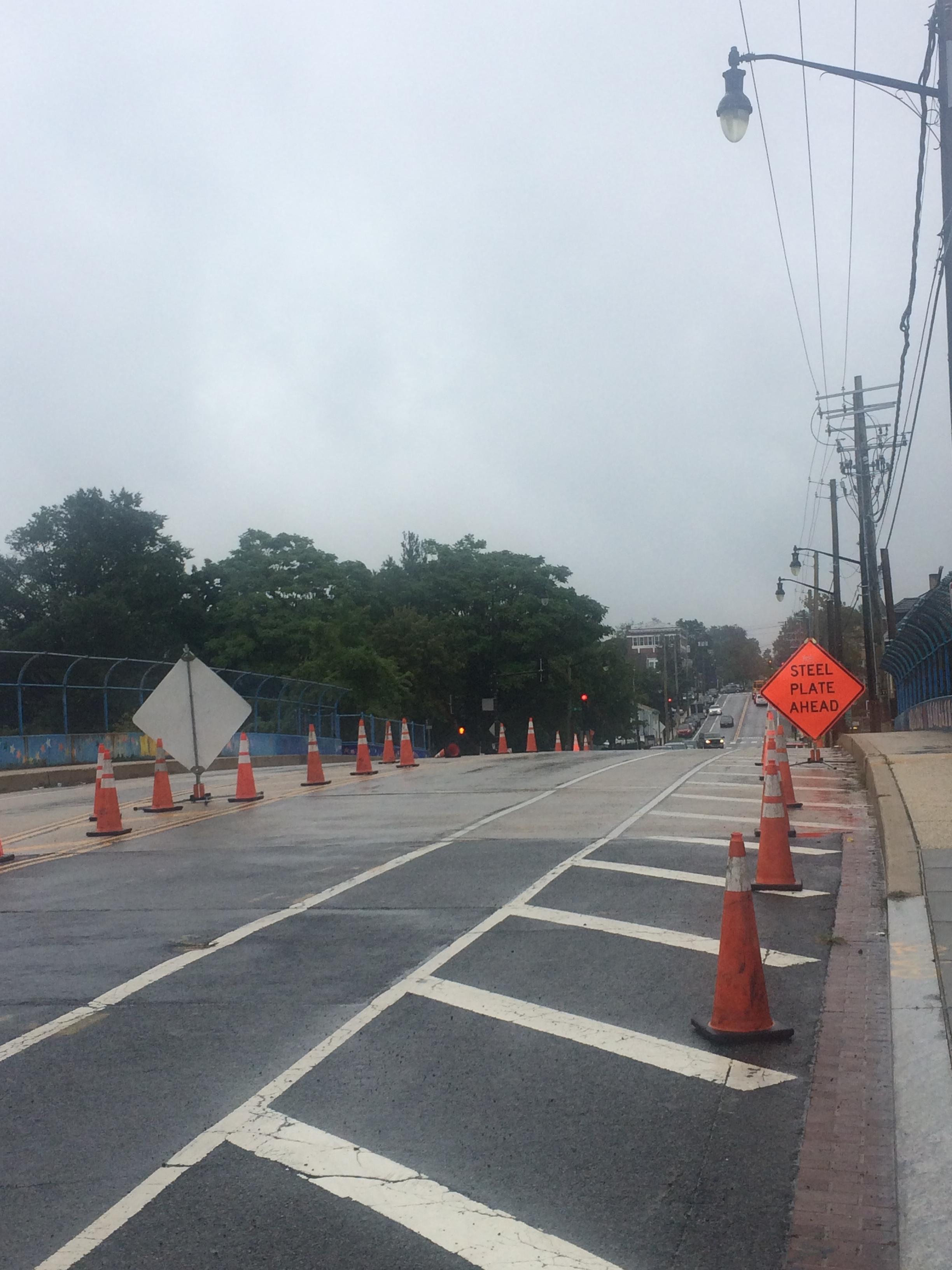 Maintenance of Traffic set on Monroe Street Bridge