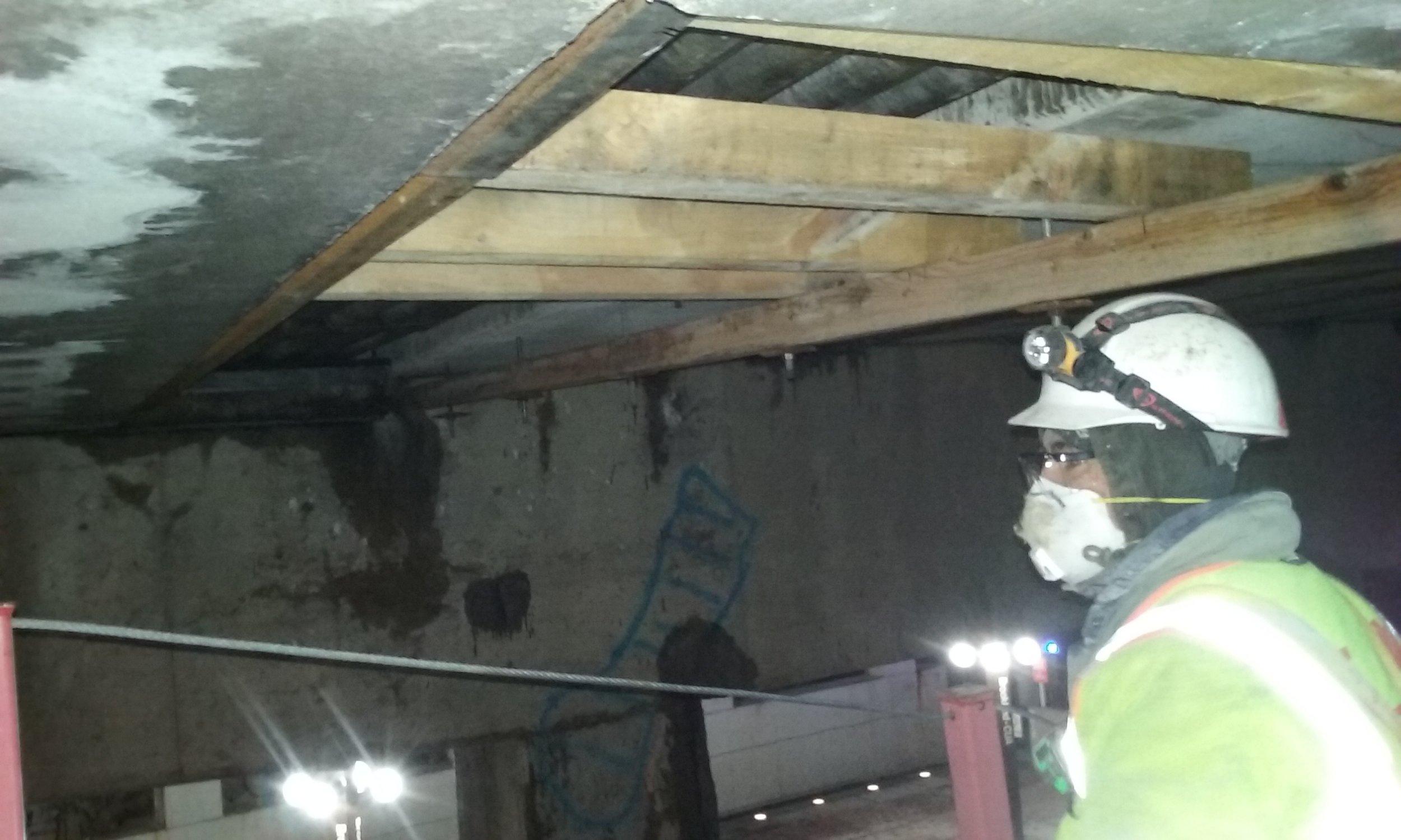Utility support installation under the bridge