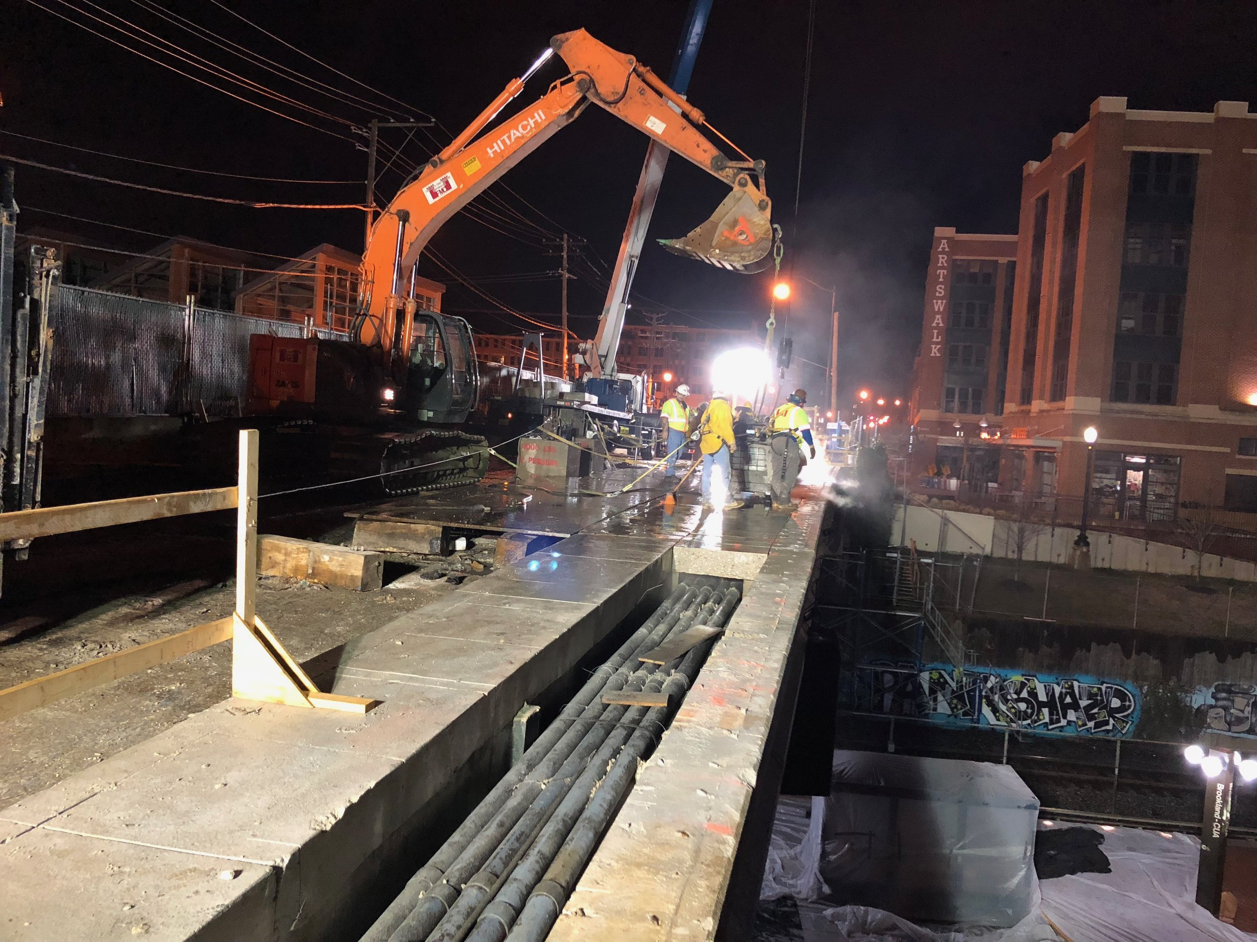 North parapet removal